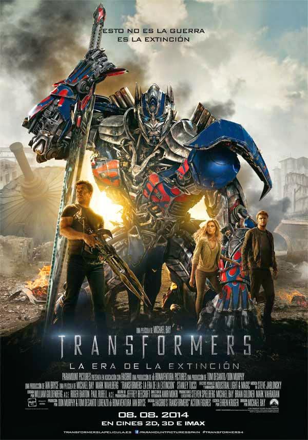 """Ficha de """"Transformers: La era de la extinción"""""""