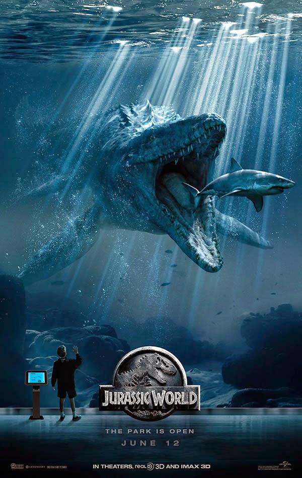 "Carteles promocionales de ""Jurassic World"""