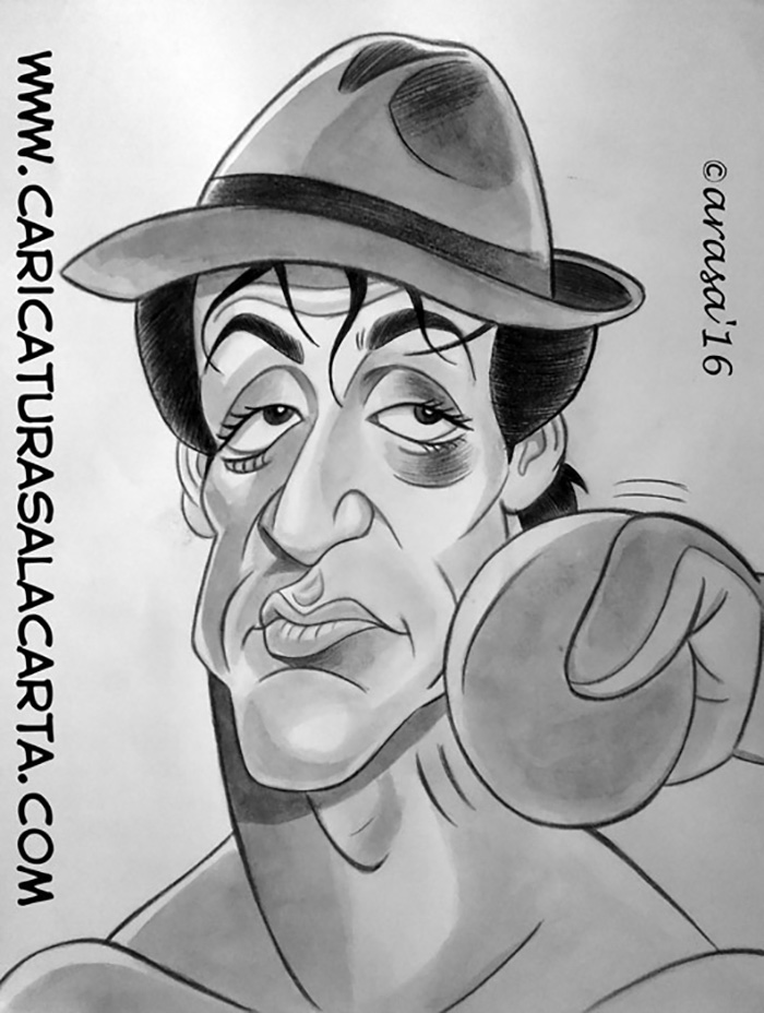 """Caricatura de Sylvester Stallone en """"Creed: La leyenda de Rocky"""""""